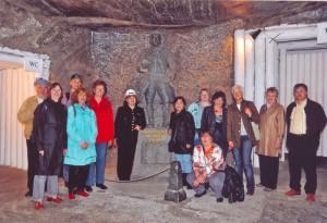 Im Bergwerk Wieliczka in Polen, das Goehte 1790 dienstlich besuchte