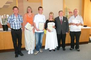 """2011 Ehrung für die Sieger im Literatur-Wettbewerb """"Gruselige Geschichten"""""""