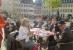 Begrüßung auf dem Markt mit Turmblasen