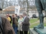 Teplice  - Deklamieren am Denkmal