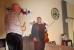 Bernd dankt Cat für das tolle Konzert - Zella-Mehlis