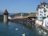 Schweizreise, Luzern, berühmte Holzbrücke