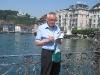 Schweizreise, Luzern, Paul skizziert Straßenszenen