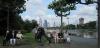 Im Bankviertel von Frankfurt/Main am Goethewanderweg